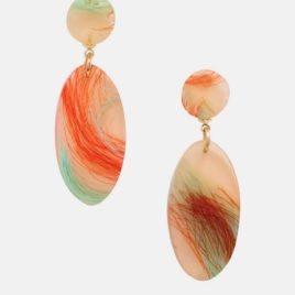 [EJING ZHANG] Siren Pendant Earrings – Korallen